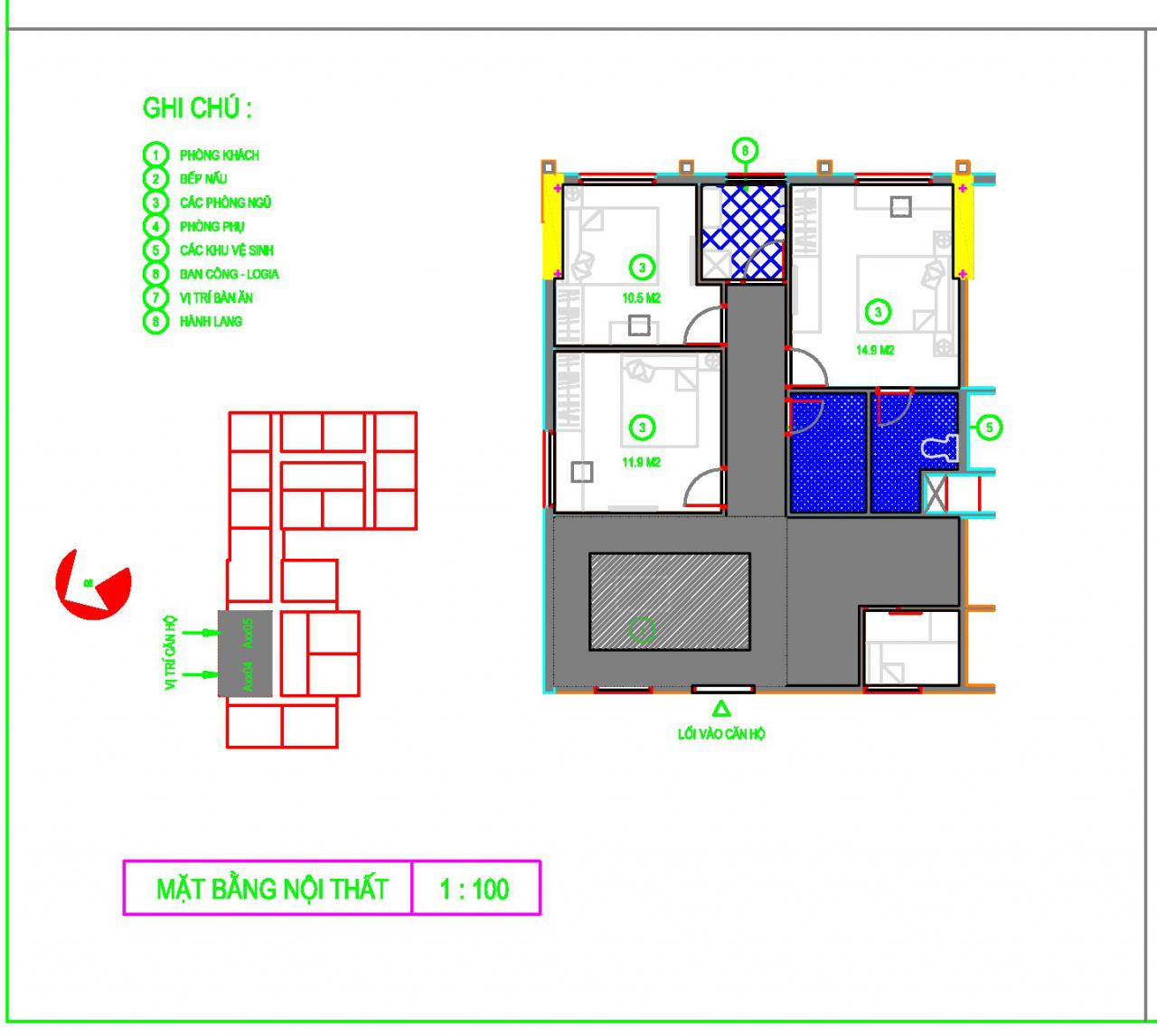 Bán Căn A4 - A5 - Diện tích 88,3m2, chung cư UDIC RIVERSIDE 1, số 122 VĨNH TUY