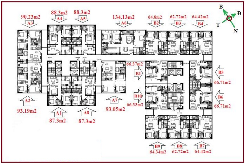 Bán Căn B2 – Diện tích 64,8m2, Chung Cư 122 Vĩnh Tuy