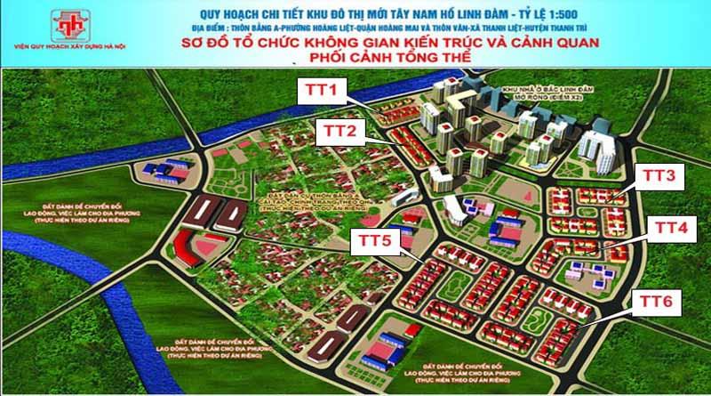 Biệt thự tây nam Linh Đàm giá chỉ từ 7,4 tỷ