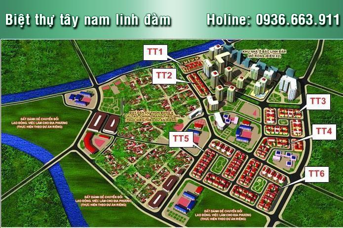 Biệt thự TT3 Tây Nam Linh Đàm