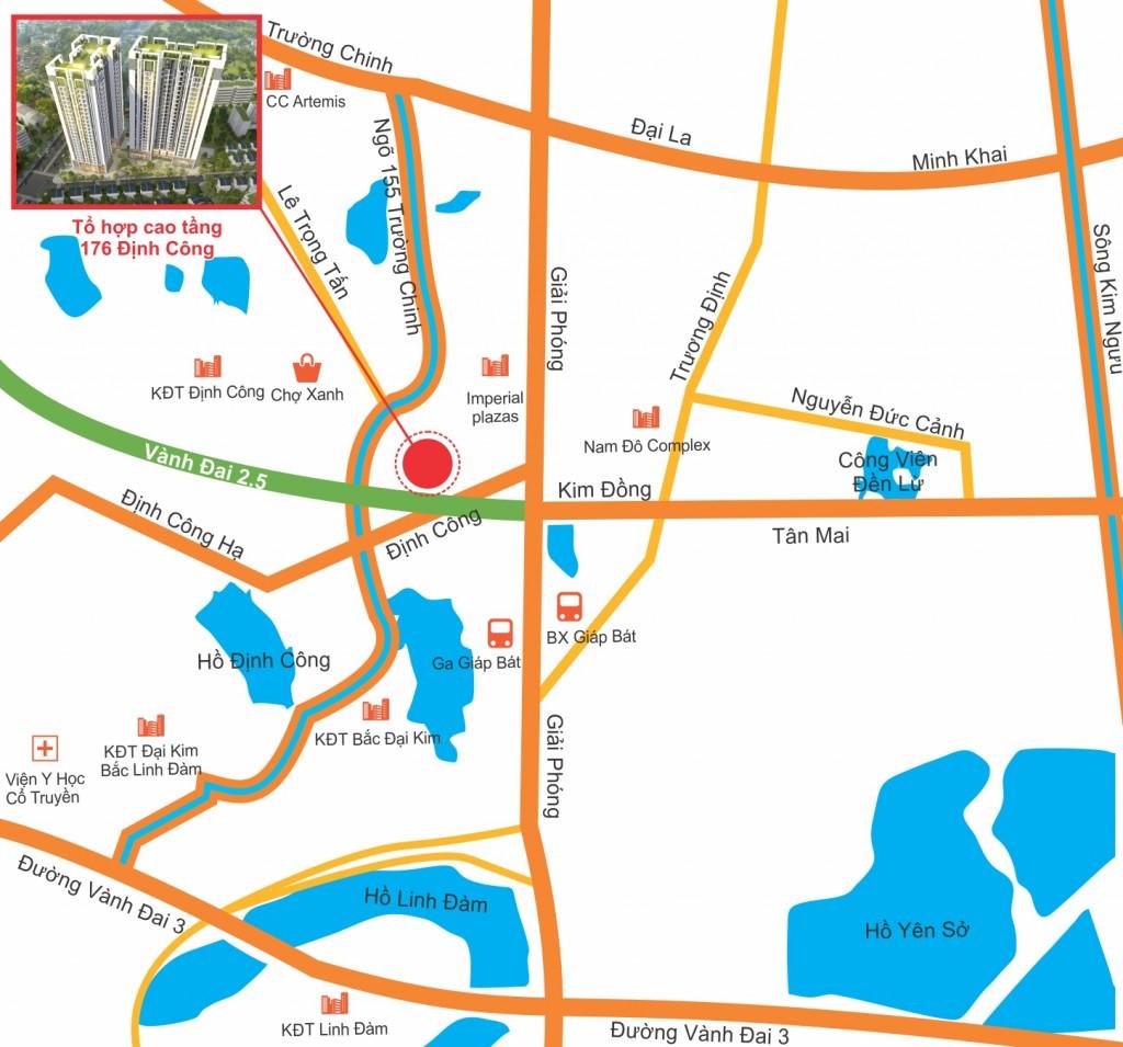 Mặt bằng thiết kế căn hộ Sky Central 176 Định Công