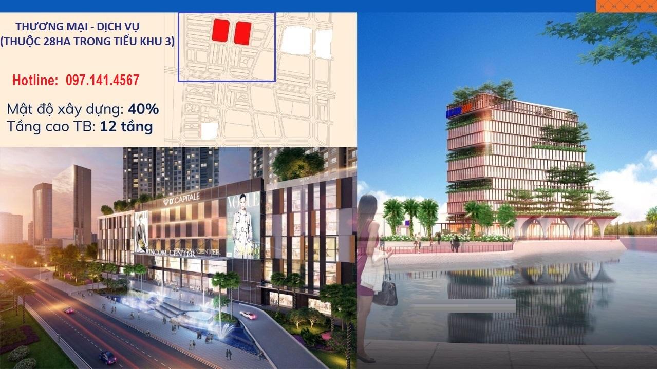 Khu thương mại dịch vụ thuộc tiểu khu 3 dự án Kim Đô