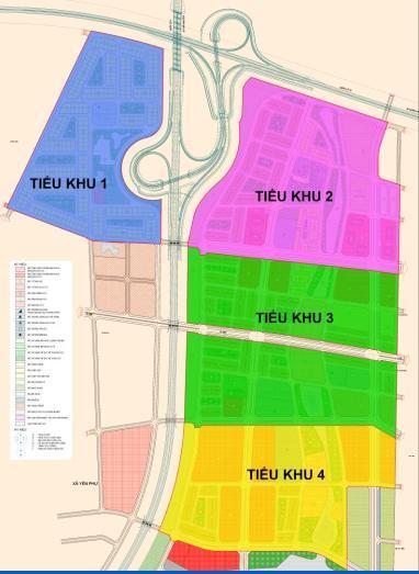 vị trí các tiểu khu dự án
