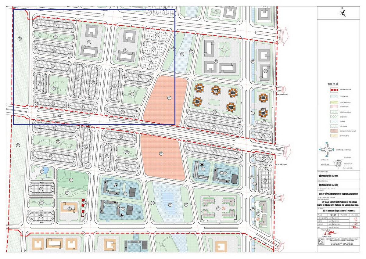 Mặt bằng chia lô giai đoạn 1 dự án Kim Đô