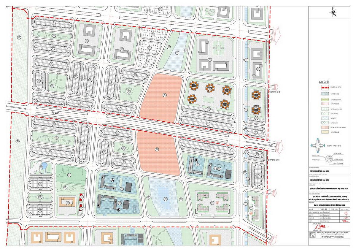 Mặt bằng chia lô tiểu khu 3 dự án Kim Đô Bắc Ninh