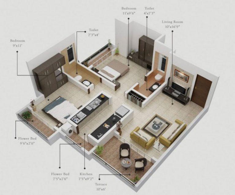 Hình ảnh 3D căn hộ Panorama Hồ Đền Lừ