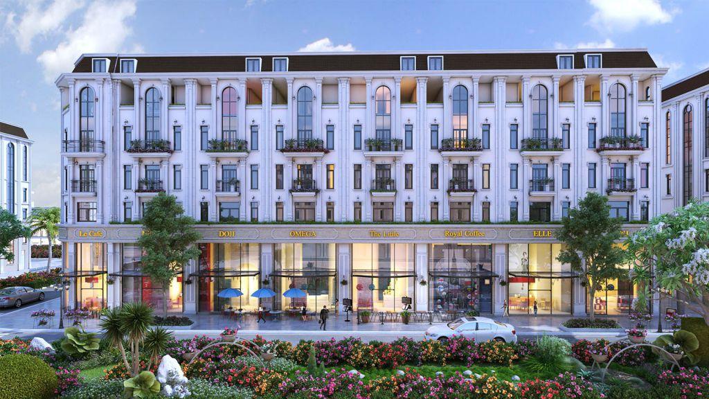 Thiết kế Shophouse Him Lam Vạn Phúc theo phong cách kiên trúc Pháp