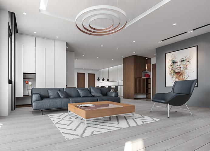Nội thất căn hộ Sky Villa chung cư DreamLand Bonanza