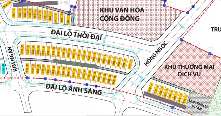 mặt bằng phân lô khu đô thị chợ gỗ Phù khê Hương Mạc