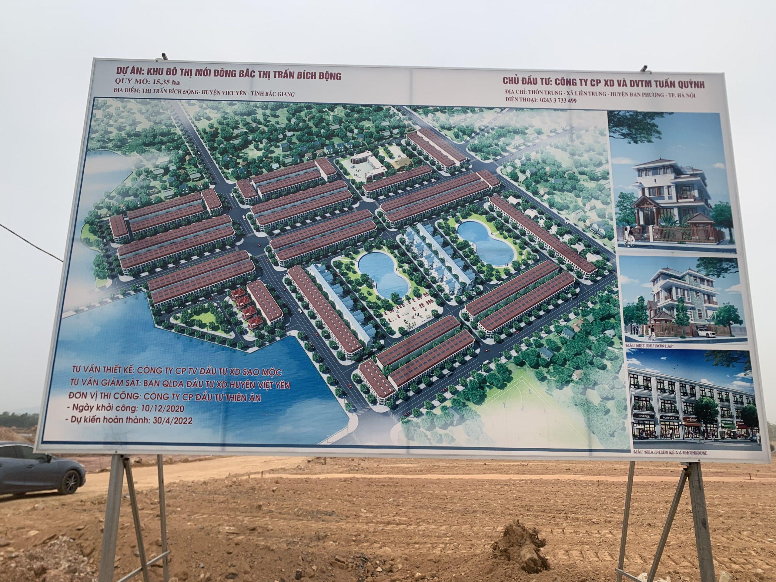 Khu Đô Thị Đông Bắc Thị Trấn Bích Động, Việt Yên, Bắc Giang